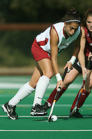 6 November 2007: Stanford Cardinal Katherine Swank during Stanford's 1-0 win against the Lock Haven Lady Eagles in an NCAA play-in game to advance to the NCAA tournament at the Varsity Field Hockey Turf in Stanford, CA.