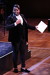 """Alex Newell performing during the MCP Production of """"The Scarlet Pimpernel"""" Concert at the David Geffen Hall on February 18, 2019 in New York City."""