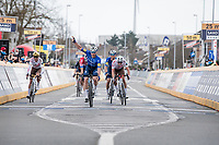 Florian Sénéchal (FRA/Deceuninck - Quick Step) wins the sprint for 2nd place (behind teammate Asgreen)<br /> <br /> 64th E3 Classic 2021 (1.UWT)<br /> 1 day race from Harelbeke to Harelbeke (BEL/204km)<br /> <br /> ©kramon