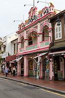 Peranakan Architecture on Hang Jebat Street, Melaka, Malaysia.