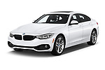 2020 BMW 4 Series 430i Gran Coupe 5 Door Hatchback angular front stock photos of front three quarter view