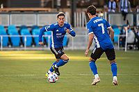 SAN JOSE, CA - MAY 15: Cade Cowell #44 of the San Jose Earthquakes dribbles the ball during a game between San Jose Earthquakes and Portland Timbers at PayPal Park on May 15, 2021 in San Jose, California.