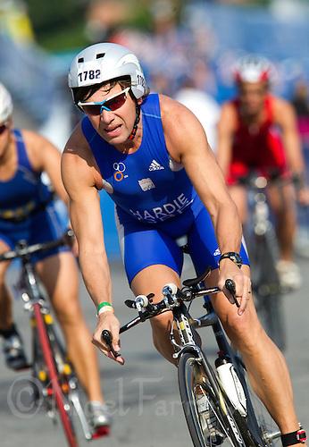 11 SEP 2011 - BEIJING, CHN - Dean Hardie (GBR) - 2011 ITU World Age Group Olympic Distance Triathlon Championships .(PHOTO (C) NIGEL FARROW)