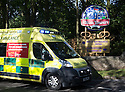 02/06/15<br /> <br /> An ambulance, with blue lights flashing, arrives at Alton Towers, Staffordshire, after a roller-coaster crash at the theme park injured many visitors earlier this afternoon.<br /> <br /> All Rights Reserved: F Stop Press Ltd. +44(0)1335 418629   www.fstoppress.com.