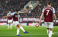 Burnley's Ashley Westwood shoots at goal <br /> <br /> Photographer Andrew Kearns/CameraSport<br /> <br /> The Premier League - Burnley v Liverpool - Wednesday 5th December 2018 - Turf Moor - Burnley<br /> <br /> World Copyright © 2018 CameraSport. All rights reserved. 43 Linden Ave. Countesthorpe. Leicester. England. LE8 5PG - Tel: +44 (0) 116 277 4147 - admin@camerasport.com - www.camerasport.com