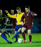 Eoin Whelan of  Clare in action against Noel Varley of Galway during their Oscar Traynor game at Healy Park. Photograph by John Kelly.