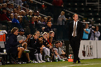 Sky Blue FC head coach Jim Gabarra. The Western New York Flash defeated Sky Blue FC 2-0 during a National Women's Soccer League (NWSL) semifinal match at Sahlen's Stadium in Rochester, NY, on August 24, 2013.