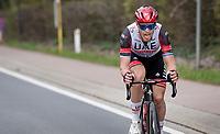 Matteo Trentin (ITA/UAE-Emirates) attempting a solo<br /> <br /> 61st Brabantse Pijl 2021 (1.Pro)<br /> 1 day race from Leuven to Overijse (BEL/202km)<br /> <br /> ©kramon