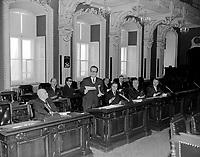 Le premier ministre Daniel Johnson a l'assemblee nationale<br /> en janvier 1966<br /> <br /> Photographe : Photo Moderne<br /> - Agence Quebec Presse