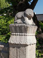 Brückenpfeiler im Changdeokgung Palast, Seoul, Südkorea, Asien, UNESCO-Weltkulturerbe<br /> bridge pilar inside palace Changdeokgung,  Seoul, South Korea, Asia UNESCO world-heritage