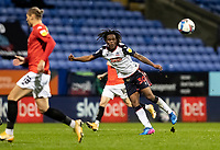 Bolton Wanderers' Peter Kioso passes<br /> <br /> Photographer Andrew Kearns/CameraSport<br /> <br /> The EFL Sky Bet League Two - Bolton Wanderers v Salford City - Friday 13th November 2020 - University of Bolton Stadium - Bolton<br /> <br /> World Copyright © 2020 CameraSport. All rights reserved. 43 Linden Ave. Countesthorpe. Leicester. England. LE8 5PG - Tel: +44 (0) 116 277 4147 - admin@camerasport.com - www.camerasport.com