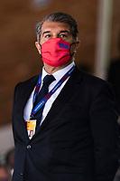 11th April 2021; Palau Blaugrana, Barcelona, Catalonia, Spain; Liga ACB Basketball, Barcelona versus Real Madrid; Joan Laporta Barcelona president