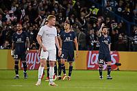 28th September 2021, Parc des Princes, Paris, France: Champions league football, Paris-Saint-Germain versus Manchester City:   PSG players celebrate the goal for 2-0 from Lionel Messi ( 30 - PSG )