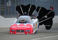 Nov. 12, 2011; Pomona, CA, USA; NHRA funny car driver Johnny Gray during qualifying at the Auto Club Finals at Auto Club Raceway at Pomona. Mandatory Credit: Mark J. Rebilas-.