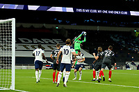 5th January 2021; Tottenham Hotspur Stadium, London, England; English Football League Cup Football, Carabao Cup, Tottenham Hotspur versus Brentford; Hugo Lloris of Tottenham Hotspur collects the cross