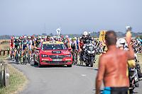 neutralised section of the stage on the (sometimes submerged ) island of Noirmoutier<br /> <br /> Stage 1: Noirmoutier-en-l'Île > Fontenay-le-Comte (189km)<br /> <br /> Le Grand Départ 2018<br /> 105th Tour de France 2018<br /> ©kramon