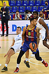 EUROLEAGUE 2020-2021. Playoffs.Game 2.<br /> FC Barcelona vs Zenit St. Petersburg: 81-78.<br /> Kevin Pangos vs Adam Hanga.