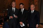 VITTORIO FELTRI CON GUIDO DELL'OMO E GIANNI LETTA<br /> PREMIO GUIDO CARLI - TERZA  EDIZIONE<br /> PALAZZO DI MONTECITORIO - SALA DELLA LUPA<br /> CON RICEVIMENTO  HOTEL MAJESTIC   ROMA 2012