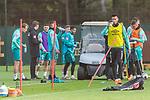 16.10.2020, Trainingsgelaende am wohninvest WESERSTADION - Platz 12, Bremen, GER, 1.FBL, Werder Bremen Abschlusstraining<br /> <br /> <br /> Trainkpause <br /> Davie Selke  (SV Werder Bremen #09)<br /> <br /> <br /> Foto © nordphoto / Kokenge
