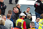 © Joel Goodman - 07973 332324 . 28/05/2011 . Blackpool, UK . EDL Deputy Leader and Leader KEVIN CARROLL and TOMMY ROBINSON ( aka Stephen Yaxley-Lennon) . About 2,000 people attend an English Defence League demonstration. The EDL say the protest was organised after the failed prosecution of local takeaway owners who they allege are responsible for the disappearance and suspected murder of 14 year old Charlene Downes. Photo credit : Joel Goodman