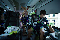 Daryl Impey (ZAF/Orica-BikeExchange) & Mathew Hayman (AUS/Orica-BikeExchange) getting ready for the last stage<br /> <br /> Final stage 21 - Chantilly › Paris/Champs Elysées (113km)<br /> 103rd Tour de France 2016