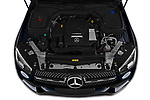 Car Stock 2020 Mercedes Benz GLC AMG-Line 5 Door SUV Engine  high angle detail view