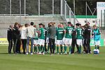 19.09.2020, Dietmar-Scholze-Stadion an der Lohmuehle, Luebeck, GER, 3. Liga, VfB Luebeck vs 1.FC Saarbruecken <br /> <br /> im Bild / picture shows <br /> Endstand 1:1 Schlusskreis des VfB Lübeck/Luebeck<br /> <br /> DFB REGULATIONS PROHIBIT ANY USE OF PHOTOGRAPHS AS IMAGE SEQUENCES AND/OR QUASI-VIDEO.<br /> <br /> Foto © nordphoto / Tauchnitz