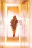 """Walk into light"" In the corridors of the Amer Fort Jaipur Rajasthan, India"