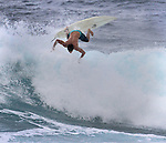 Surfing at Pipeline, Northshore, Hawaii