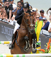 MIAMI BEACH, FL - APRIL 20: Jennifer Gates at the Longines Global Champions Tour finals in Miami Beach. Singer Bruce Springsteen's daughter Jessica Rae Springsteen and fellow riders Former Mayor of New York Michael Bloomberg's daughter Georgina Bloomberg as well as Bill Gates daughter Jennifer Gates were all in attendance on April 20, 2019 in Miami Beach, Florida<br /> <br /> <br /> People:  Jennifer Gates