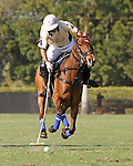 WELLINGTON, FL - FEBRUARY 12:  Diego Cavanagh #4 of Valiente II controls the ball in Sunday's Feature Match vs Coca Cola at the International Polo Club, Palm Beach on February 12, 2017 in Wellington, Florida. (Photo by Liz Lamont/Eclipse Sportswire/Getty Images)