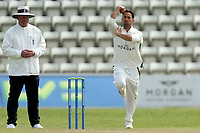 Brett D'Oliveira of Worcestershire in bowling action during Worcestershire CCC vs Essex CCC, LV Insurance County Championship Group 1 Cricket at New Road on 29th April 2021