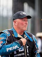 Sep 14, 2019; Mohnton, PA, USA; NHRA driver Dan Fletcher during qualifying for the Reading Nationals at Maple Grove Raceway. Mandatory Credit: Mark J. Rebilas-USA TODAY Sports