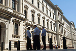 Civil Servants outside The Foreign Office King Charles Street Whitehall London UK 2010