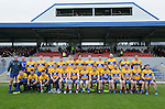The Clare team before their Division 2, Round 2 National League game against Down at Cusack Park. Photograph by John Kelly.