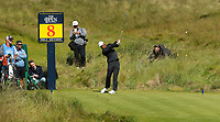 140719 | The 148th Open - Sunday Practice<br /> <br /> Tiger Woods on the 8th tee during practice for the 148th Open Championship at Royal Portrush Golf Club, County Antrim, Northern Ireland. Photo by John Dickson - DICKSONDIGITAL
