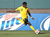 CARSON, CA – June 6, 2011: Jamaican player Demar Phillips (12) during the match between Grenada and Jamaica at the Home Depot Center in Carson, California. Final score Jamaica 4 and Grenada 0.