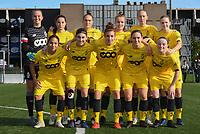 20191026 – Brugge, BELGIUM : Standard's team with Lisa Lichtfus GK)   Sophie Strepenne (2)   Merel Bormans (4)  Noemie Gelders (10)   Lola Waijnblum (11)   Zoe Van Eynde (14)   Elien Nelissen (15)   Maud Coutereels (17)   Constance Brackman (20)   Lisa Petry (21)   Justine Blave (22) pictured during a women soccer game between Club Brugge Dames and Standard Femina de Liege on the seventh matchday of the Belgian Superleague season 2019-2020 , the Belgian women's football  top division , Saturday 26 th October 2019 at the synthetic terrain 4 at the Jan Breydel site in Brugge  , Belgium  .  PHOTO SPORTPIX.BE | DIRK VUYLSTEKE