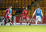 St Johnstone v Aberdeen…13.12.17…  McDiarmid Park…  SPFL<br />Adam Rooney opens the scoring<br />Picture by Graeme Hart. <br />Copyright Perthshire Picture Agency<br />Tel: 01738 623350  Mobile: 07990 594431