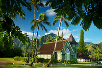 "Wai`oli Hui`ia Church<br /> ""I ka poli o Hanalei - in the Heart of Hanalei, Kauai, Hawaii"