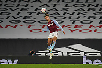 Matty Cash of Aston Villa during the Premier League match between Fulham and Aston Villa played behind closed doors due to current government covid-19 guidelines in Sport, played at Craven Cottage, London, England on 28 September 2020. Photo by Andy Rowland.