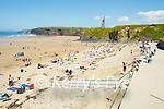 Large crowds on Ballybunion beach on Sunday