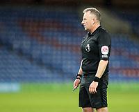 17th February 2021; Turf Moor, Burnley, Lanchashire, England; English Premier League Football, Burnley versus Fulham; match referee Jonathan Moss watches play