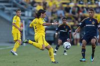 29 MAY 2010:  Gino Padula of the Columbus Crew (4) during MLS soccer game between LA Galaxy vs Columbus Crew at Crew Stadium in Columbus, Ohio on May 29, 2010. Galaxy defeated the Crew 2-0.