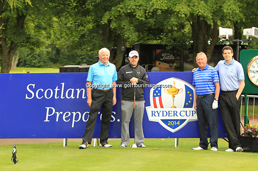 Richie Ramsay (SCO) and his pro-am partners  during the ProAm ahead of the 2013 Johnnie Walker Championship being played over the PGA Centenary Course, Gleneagles, Perthshire from 22nd to 25th August 2013: Picture Stuart Adams www.golftourimages.com: 21st August 2013