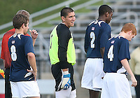 04 September 2009: Andrew Quinn #0 of the University of Notre Dame  University during an Adidas Soccer Classic match against Wake Forest at the University of Indiana in Bloomington, In. The game ended in a 1-1 tie..