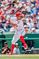 20 May 2018: Washington Nationals catcher Pedro Severino in action against the Los Angeles Dodgers at Nationals Park in Washington, DC. The Dodgers defeated the Nationals 7-2, sweeping their 3-game series. Mandatory Credit: Ed Wolfstein Photo *** RAW (NEF) Image File Available ***