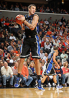 Feb. 16, 2011; Charlottesville, VA, USA; Duke Blue Devils guard Nolan Smith (2) grabs a rebound during the second half of the game against the Virginia Cavaliers at the John Paul Jones Arena. The Duke Blue Devils won 56-41. Credit Image: © Andrew Shurtleff