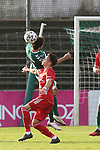22.11.2020, Dietmar-Scholze-Stadion an der Lohmuehle, Luebeck, GER, 3. Liga, VfB Luebeck vs FC Bayern Muenchen II <br /> <br /> im Bild / picture shows <br /> Zweikampf/Kopfball. Kopfballduell zwischen Mirko Boland (VfB Luebeck) und Nicolas Kühn/Kuehn (FC Bayern Muenchen II) <br /> <br /> DFB REGULATIONS PROHIBIT ANY USE OF PHOTOGRAPHS AS IMAGE SEQUENCES AND/OR QUASI-VIDEO.<br /> <br /> Foto © nordphoto / Tauchnitz