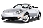 Stock pictures of low aggressive front three quarter view of a 2015 Volkswagen Beetle - 2 Door Convertible 2WD Low Aggressive